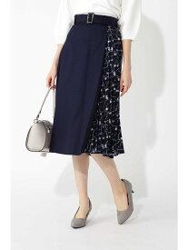 【SALE/30%OFF】スカーフプリント切り替えスカート ナチュラルビューティベーシック スカート【RBA_S】【RBA_E】【送料無料】