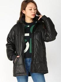 KENZO (W)Kenzo Sport Nylon Puffer Jacket W ケンゾー コート/ジャケット ナイロンジャケット ブラック【送料無料】