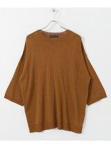 クルーネックビッグセーター(5分袖)