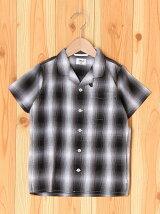 (K)MK-S/SオンブレCKシャツ