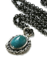 Ivied Frame Stone Setting Necklace1