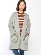 RETRO GIRL/ファーポケット付コート