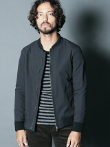 NYLON WEATHER ZIP NARROW RIB JKT