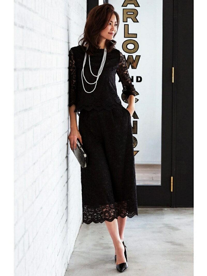 【SALE/25%OFF】Dress Lab Dress Lab/上品総レースノースリセットアップパンツ クリーム カットソー【RBA_S】【RBA_E】【送料無料】