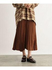 OZOC アシメヘムプリーツスカート オゾック スカート スカートその他 オレンジ ブラウン ブラック ベージュ【送料無料】