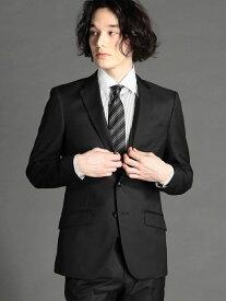 MONSIEUR NICOLE シャイニーツイル2つボタンスーツ ニコル ビジネス/フォーマル スーツ ブラック ブルー【送料無料】