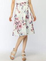 花柄ウエストギャザースカート