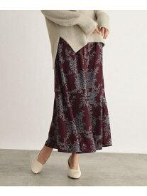 【SALE/40%OFF】OZOC [洗える]ボタニカルAラインマキシスカート オゾック スカート ロングスカート ブラウン