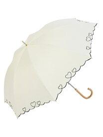nifty colors niftycolors/(W)遮光ハートスカラップ ニフティカラーズ ファッショングッズ 日傘/折りたたみ傘 ホワイト ネイビー ブラック