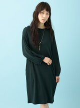 chocol raffine robe m 袖タックカットワンピース