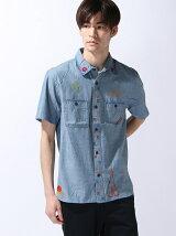[JOEY FACTORY]刺繍シャンブレーシャツ
