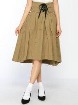 【Dukkah】(L)コルセットベルトイレヘムスカート