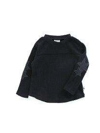 BREEZE ネット限定袖スター長袖Tシャツ エフオーオンラインストア カットソー Tシャツ ブラック イエロー ホワイト レッド