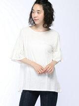 (W)フリル切り替えTシャツ・カットソーPJ