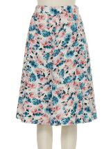 FROWER PRINT skirt