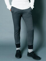 T/W STRETCH TAPERED RIB PANTS