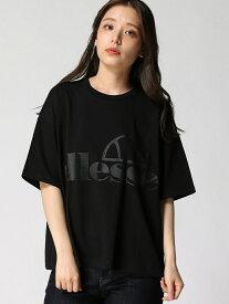 【SALE/35%OFF】LOWRYS FARM ellesseロゴTシャツ ローリーズファーム カットソー Tシャツ ブラック ベージュ ホワイト