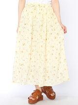 綿シフォンギャザースカート