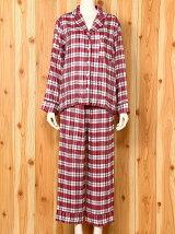 チェックパジャマシャツ/ルームウエア/パジャマ