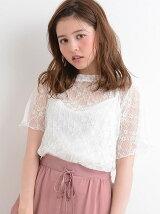 【WEB限定価格】衿フリルプリーツレースプルオーバー