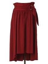 ウエストリボンAラインフレアスカート
