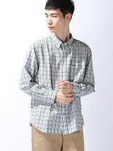 (M)ソフィスタチェック&ストライプBDシャツ