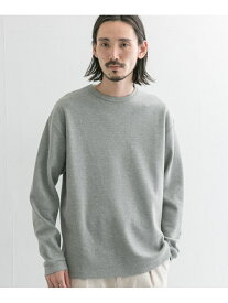 【SALE/10%OFF】URBAN RESEARCH 度詰めワッフルクルーネック アーバンリサーチ カットソー Tシャツ グレー ホワイト【送料無料】