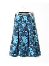 フラワープリントグログランスカート