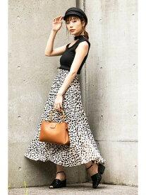 FREE'S MART ◆レオパード変形プリーツスカート フリーズ マート スカート スカートその他 ブラウン【送料無料】