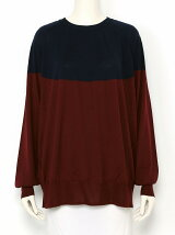 circle yoke colorblock pullover