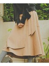 ダブルクロスフレアラップスカート