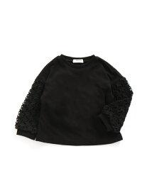 BREEZE ネット限定袖コンスターTシャツ エフオーオンラインストア カットソー Tシャツ ブラック グレー