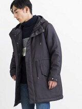 BROWNY/(M)ウールタッチフーデッドコート