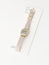 【SALE/50%OFF】niko and... (W)NベルトミニデジタルWTC ニコアンド ファッショングッズ 腕時計 ベージュ ブラック レッド