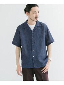 【SALE/60%OFF】URBAN RESEARCH パナマオープンカラーシャツ アーバンリサーチ シャツ/ブラウス シャツ/ブラウスその他 ネイビー ホワイト ブラウン グリーン