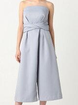 Ladyサテンガウチョドレス