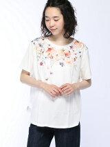 (W)花柄プリントTシャツ・カットソーPJ