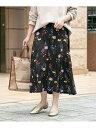 【SALE/30%OFF】ROSSO カラーフラワープリントスカート アーバンリサーチロッソ スカート スカートその他 ブラック ホワイト【送料無料】