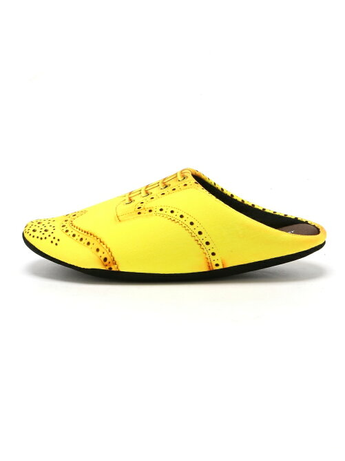 THE HOUSE FOOTWEAR/WING TIP-YELLOW-M
