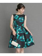 ビッグフラワープリントドレス