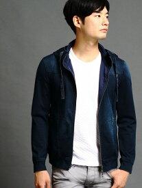 NICOLE CLUB FOR MEN デニムサージアラカルトライトアウター ニコル カットソー【送料無料】