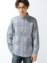 (M)パッチワークシャツ