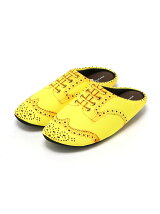 THE HOUSE FOOTWEAR/WING TIP-YELLOW-L