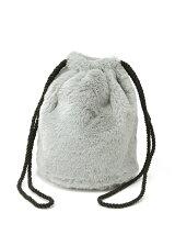 Calondy/(W)ファー巾着バッグ