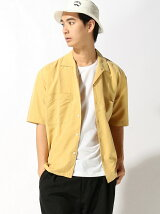 THE COMMON TEMPO/(M)S/S OPEN COLLAR SHIR
