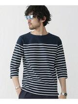 パネルボーダーボートネックTシャツ7S
