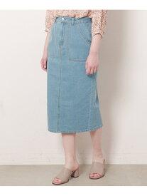 【SALE/62%OFF】frames RAY CASSIN デニムナロースカート レイカズン スカート 台形スカート/コクーンスカート ブルー ホワイト