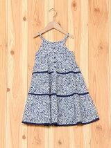 小花柄ロングドレス