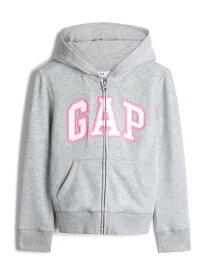 【SALE/25%OFF】GAP (K)Gapロゴパーカー (キッズ) ギャップ カットソー キッズカットソー グレー ピンク