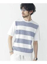 ニットコンビボーダーTシャツ